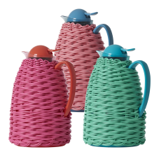 Thermo Flask Coffee Pots With Colourful Weave By Rice DK