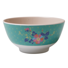 Flowers & Small Dotty Print Melamine Bowl Rice DK