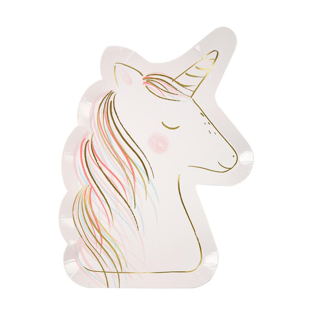 Unicorn Shaped Paper Plates By Meri Meri