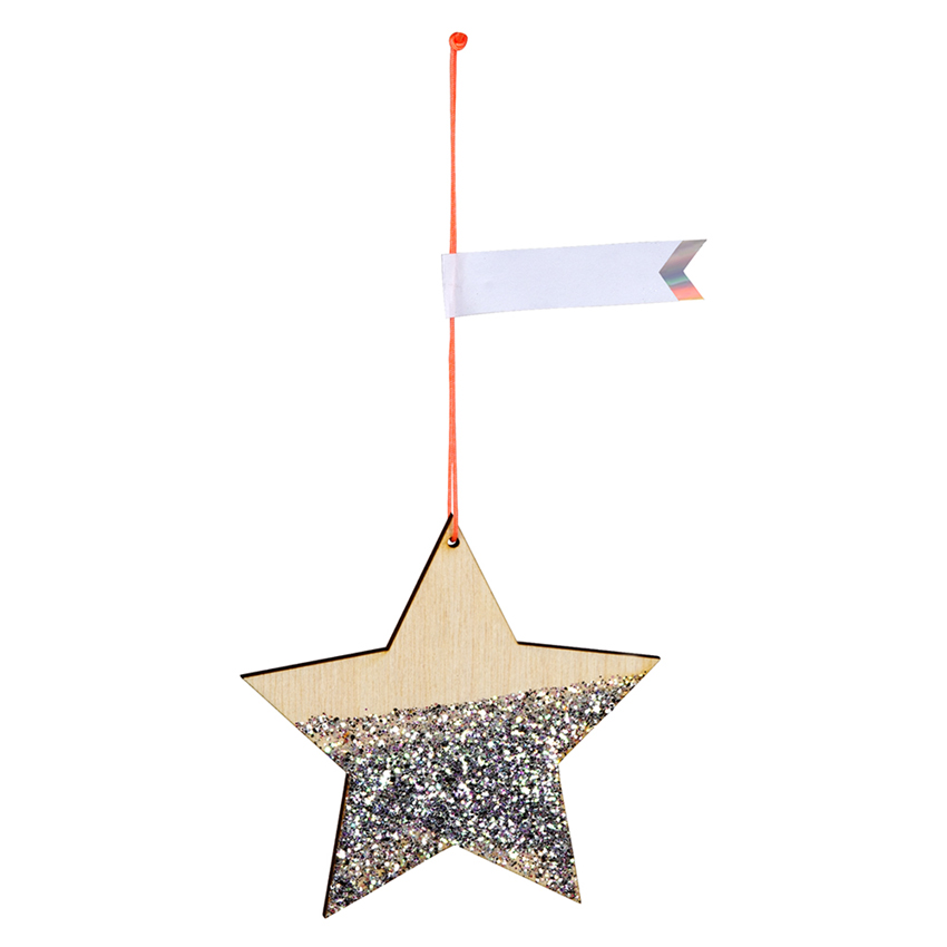 Star Shaped Wooden Gift Tags Set of 8 By Meri Meri