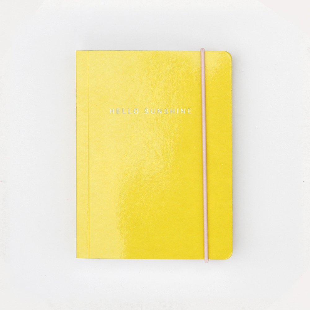 Yellow Patent Small Chunky Notebook By Caroline Gardner