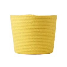 Round Rope Storage Basket In Yellow By Rice DK