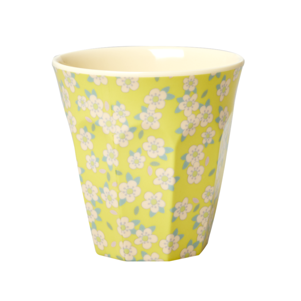 Yellow Small Flower Melamine Cup Rice DK