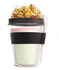 YO2GO Black Reusable Yogurt To Go Container