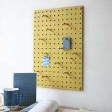 Yellow Pegboard by Block Design the perfect noticeboard