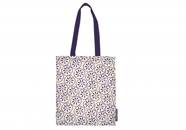 emma bridgewater blue story design shopper lunch bag vibrant home