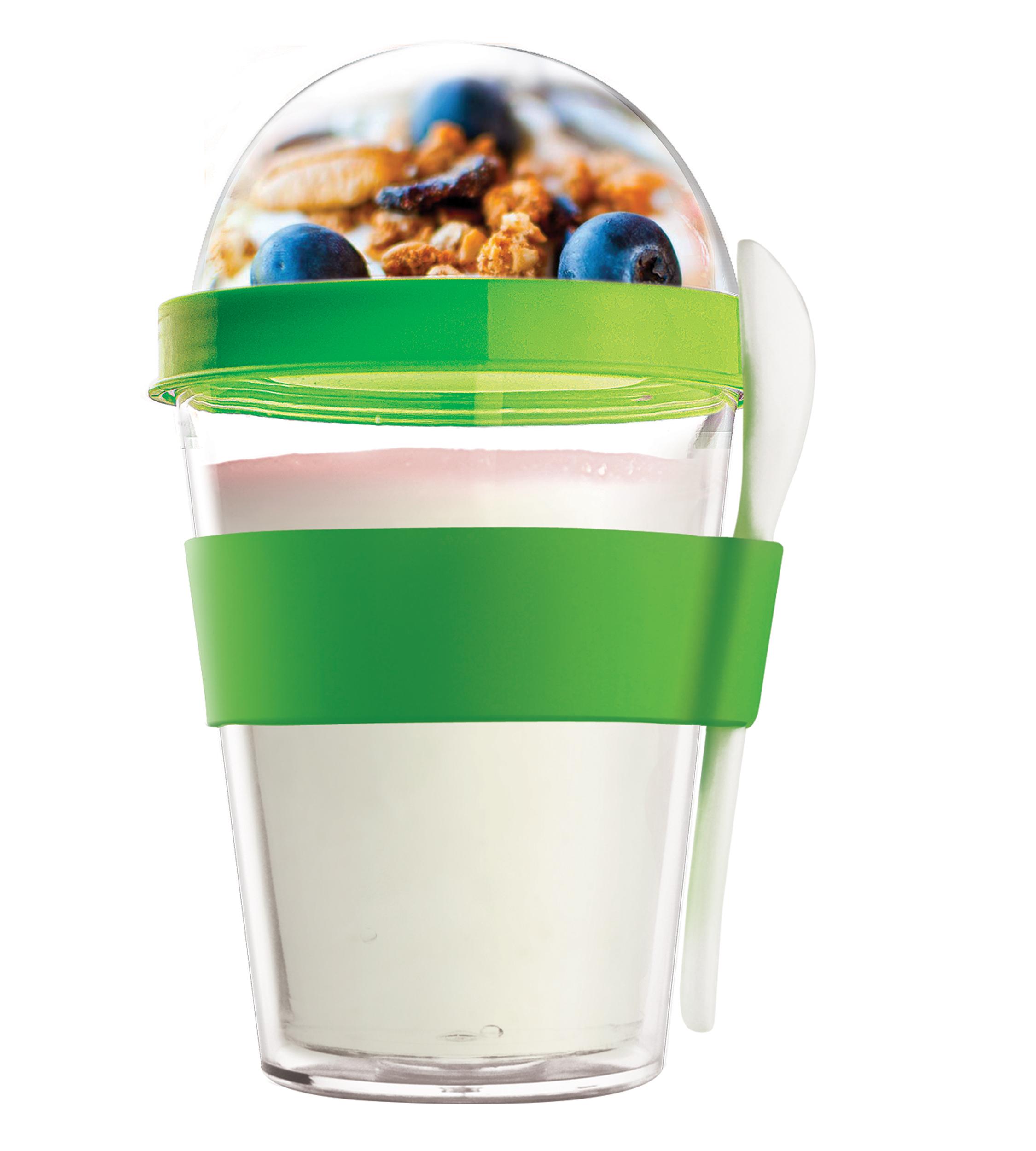 YO2GO Green Reusable Yoghurt To Go Container Vibrant Home