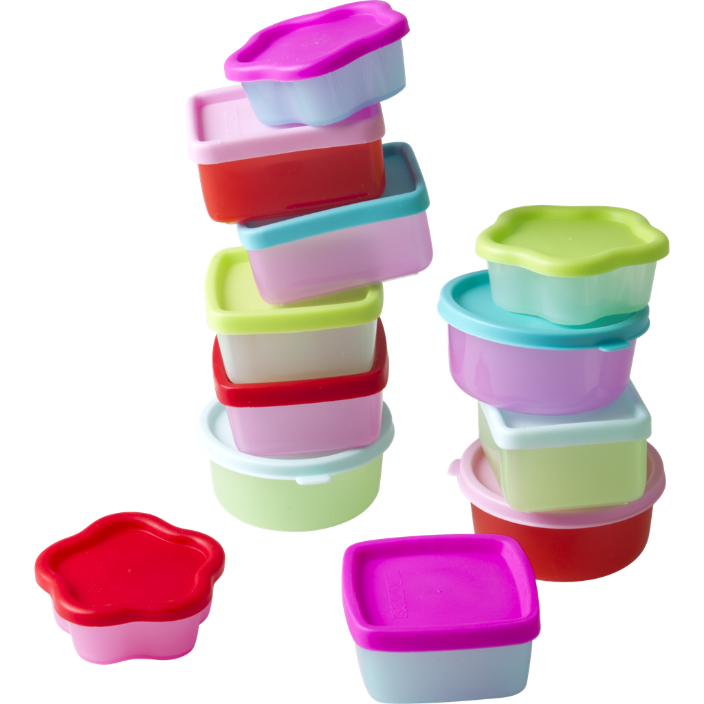 Genial Small Plastic Food Storage Snack Boxes Set Of 12 Rice DK