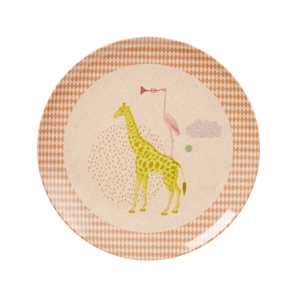 Kids Melamine \u0026 Bamboo Plate Girl Colours \u0026 Animal Prints Rice DK  sc 1 st  Vibrant Home & Kids Melamine \u0026 Bamboo Plate Girl Colours \u0026 Animal Prints Rice DK ...