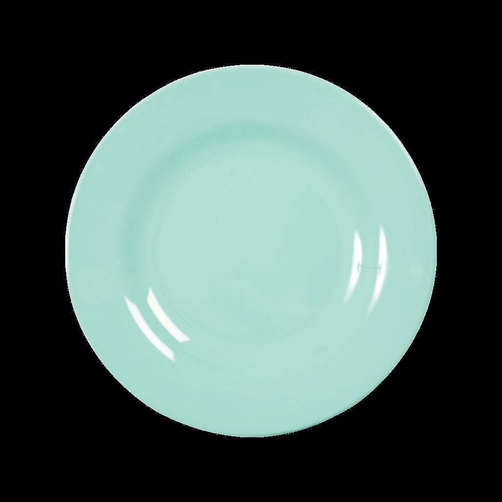 Excellent Rice DK Dark Mint Melamine Dinner Plate - Vibrant Home UA64