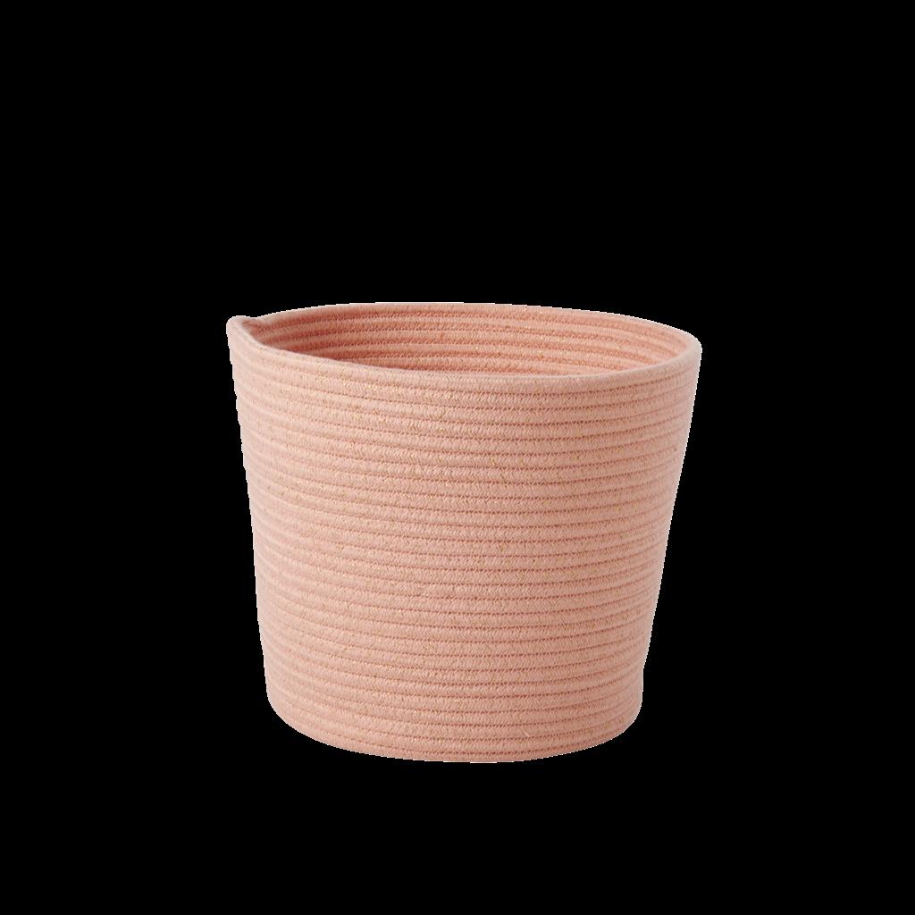 Genial Round Rope Storage Basket Coral By Rice DK