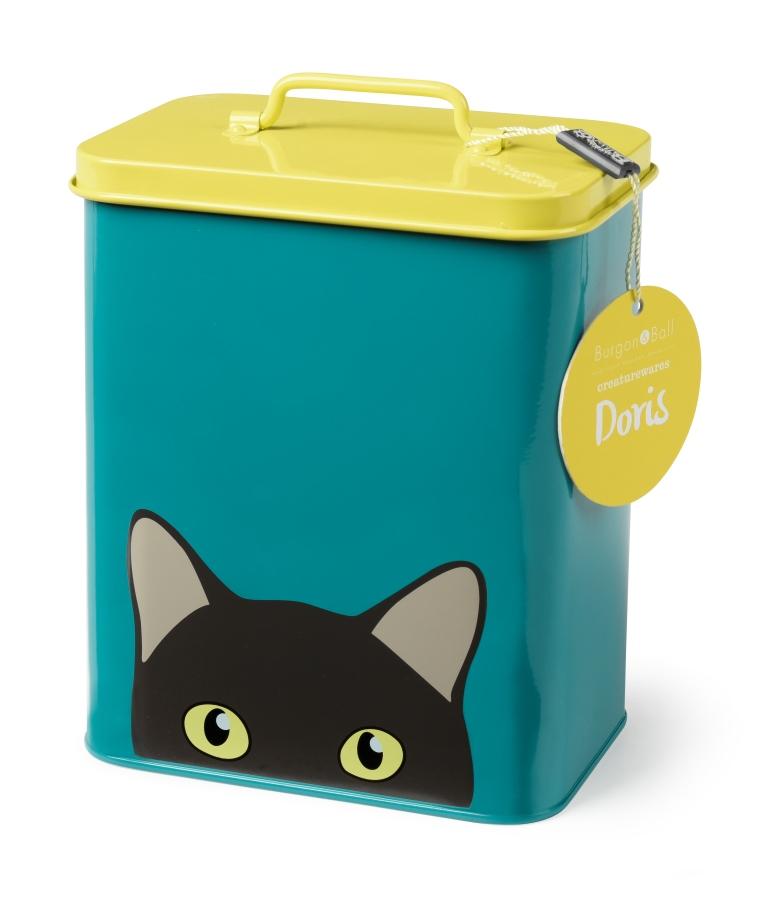 burgon ball doris cat storage tin vibrant home. Black Bedroom Furniture Sets. Home Design Ideas