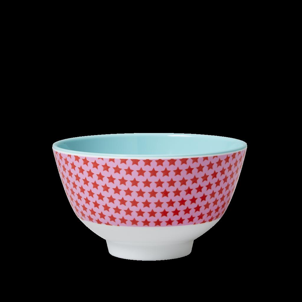 small pink star melamine bowl rice dk