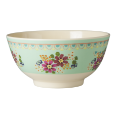 Mint Green With Flowers Melamine Bowl By Rice DK