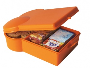 Brilliant Orange sandwich shaped lunchbox by Present Time