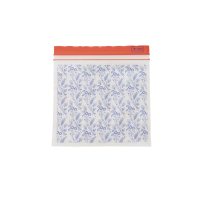 30 Medium Zipper Sandwich Bags Blue Flower Field Print Rice DK