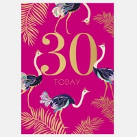 30th Birthday Card By Sara Miller London