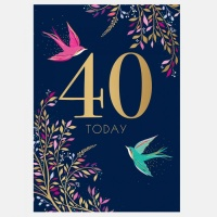 40th Birthday Card By Sara Miller London