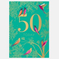 50th Birthday Card By Sara Miller London