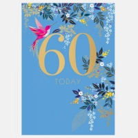 60th Birthday Card By Sara Miller London