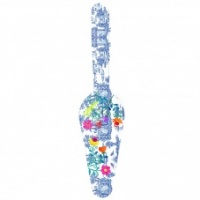 Blue & Colourful Secret Garden Melamine Cake Server by Ginger