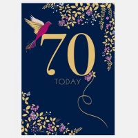 70th Birthday Card By Sara Miller London