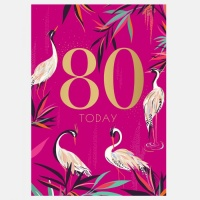 80th Birthday Card By Sara Miller London