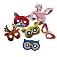 Animal Sequin Masks By Rice DK