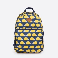 Anorak Kissing Hedgehogs Blue & Yellow Rucksack