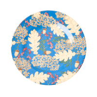Autumn & Acorn Print Melamine Side Plate By Rice DK