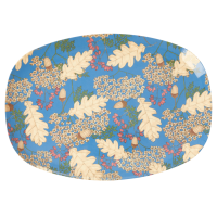 Autumn & Acorn Print Rectangular Melamine Plate By Rice DK