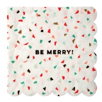 Confetti Print Be Merry Large Paper Napkins By Meri Meri
