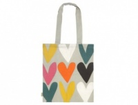 Heart print cotton canvas shopping bag Caroline Gardner