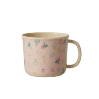 Baby Cup Melamine & Bamboo Pink Bear Print Rice DK