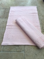 Soft Pink Cotton Bath Mat