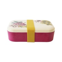 Cambridge Floral & Bee Print Bamboo Lunch Box By Joules