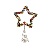 Beaded Star Christmas Tree Topper By Rice DK