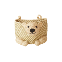 Hanging Seagrass Bear Shaped Storage Basket Rice DK