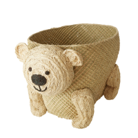 Bear Shape Kids Raffia Storage Basket Rice DK