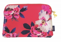 Bloom Floral Print Medium Zip Pouch By Joules