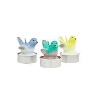 Set of 4 Bird Shaped Tea Candles By Rice DK