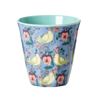 Bird and Pansy Print Melamine Cup By Rice DK