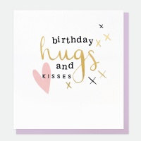 Birthday Hugs and kisses Card By Caroline Gardner