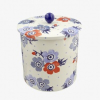 Anemone Print Biscuit Barrel By Emma Bridgewater