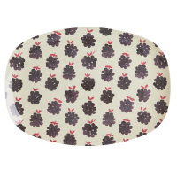 Blackberry Print Rectangular Melamine Plate By Rice DK