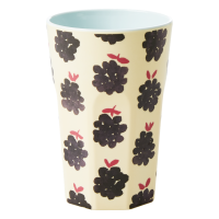 Blackberry Print Tall Melamine Cup By Rice DK