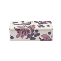 Blackbird & Bramble Print Long Rectangular Tin Thornback & Peel