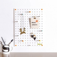 White Pegboard by Block Design the perfect noticeboard