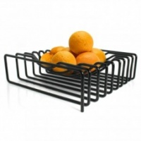 Block Design Black Wire Fruit Bowl