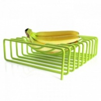 Block Design Lime Green Wire Fruit Bowl